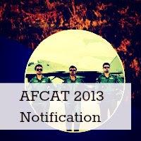 AFCAT 1/2013 Notification