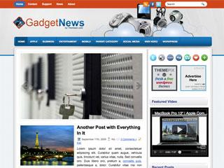 Free GadgetNews Business and Tech WordPress Theme