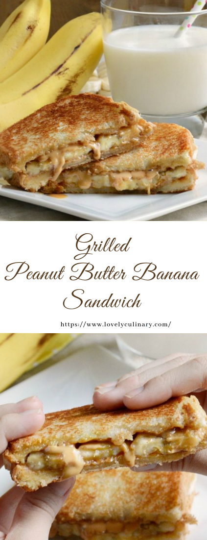 Grilled Peanut Butter Banana Sandwich #recipe #healthy