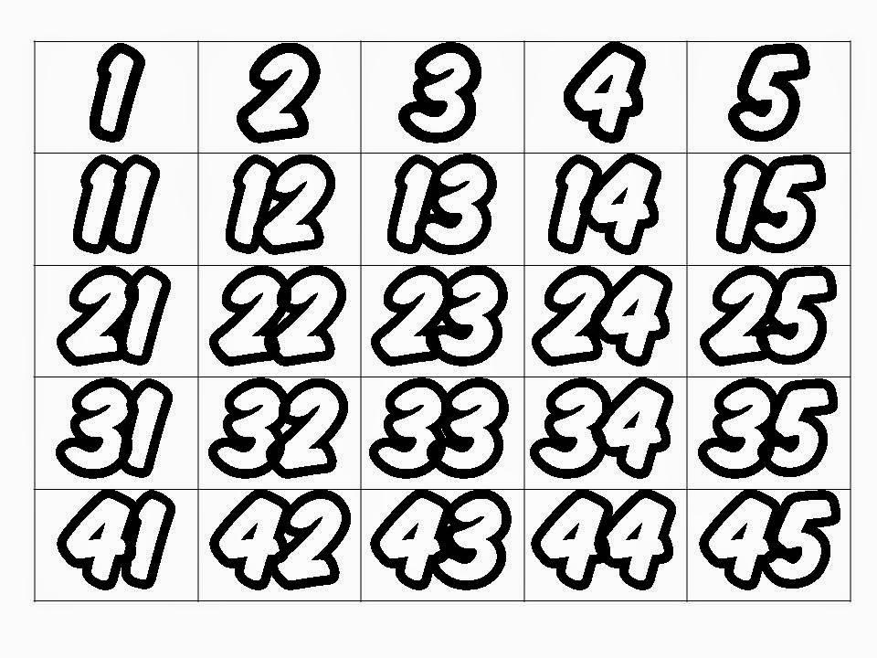 Numerais 1 Ao 100 Para Elaborar Cartaz De Apoio