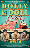 Dolly Ki Doli movie poster featuring bride Sonam Kapoor with her three grooms in bedroom