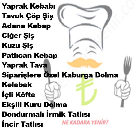 Bayram Usta Ankara Menü