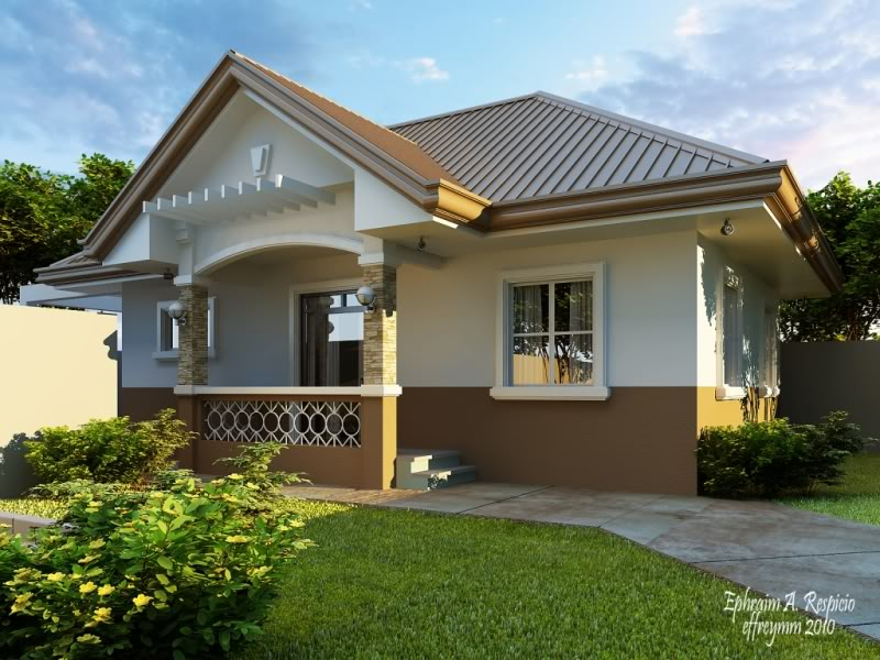 Small and simple house with small living room small Simple bungalow house plans