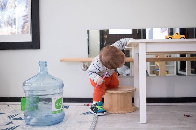 Sometimes Montessori shelf work is ignored in favor of movement! And, that's ok.