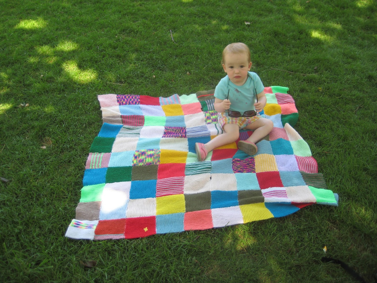 Blanket On The Ground.Dropstitch Blanket On The Ground