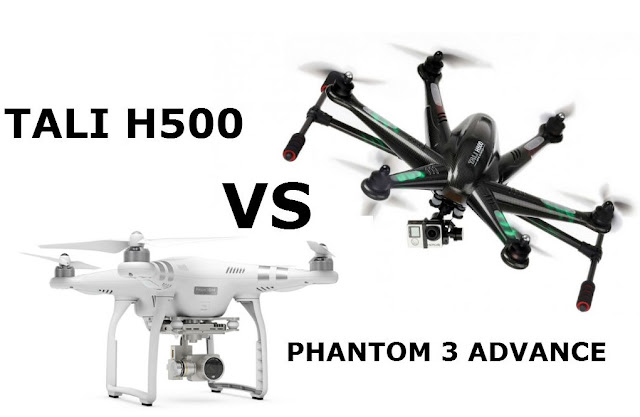 DJI P3 vs Walkera Tali H500