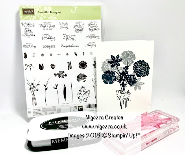 #simplystamping using Beautiful Bouquet Nigezza Creates