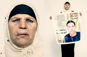 "Mannoubia Bouazizi, the mother of Tunisian street vendor Mohammed Bouazizi. ""Mohammed suffered a lo"