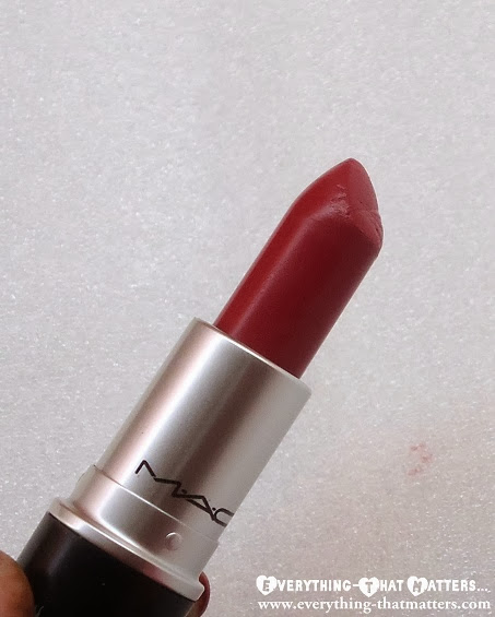 MAC+Brick-O-La+Lipstick+Swatch+Review+And+LOTD