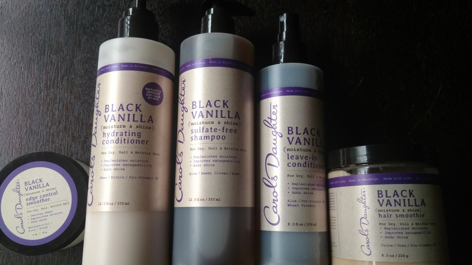 Carol's Daughter Black Vanilla Hair products now at Walmart