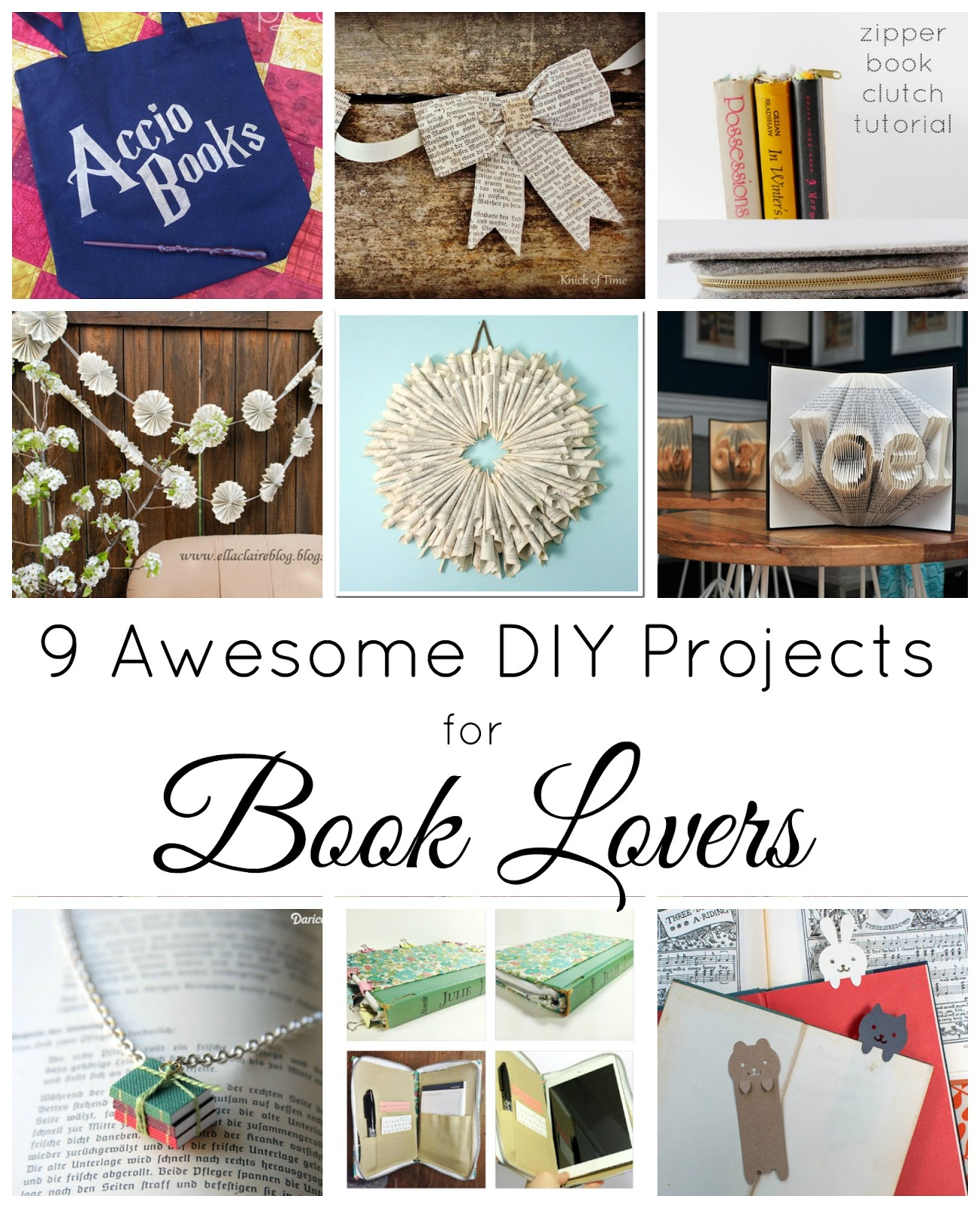 How To Make A Book Clutch With Zipper ~ Delicious reads awesome diys for book lovers