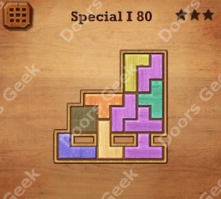 Cheats, Solutions, Walkthrough for Wood Block Puzzle Special I Level 80