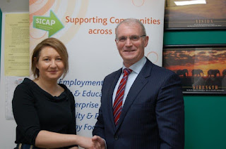 Adeline O'Brien CEO BAP with Cllr. Kieran Dennison Chairman Blanchardstown Area Partnership