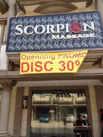 Scorpion Massage Alam Sutera : scorpion, massage, sutera, SCORPION:, OPEN.....NEW, SUTERA..SCORPION, EXECUTIVE, MASSAGE
