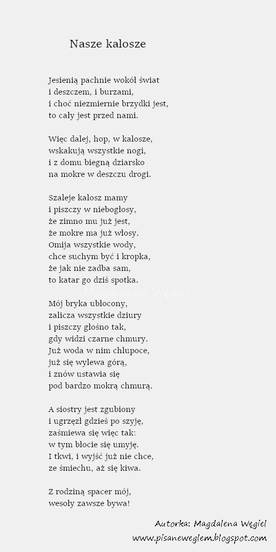 Pisane Węglem Czyli Magdalena Węgiel Dla Dzieci Stycznia 2018