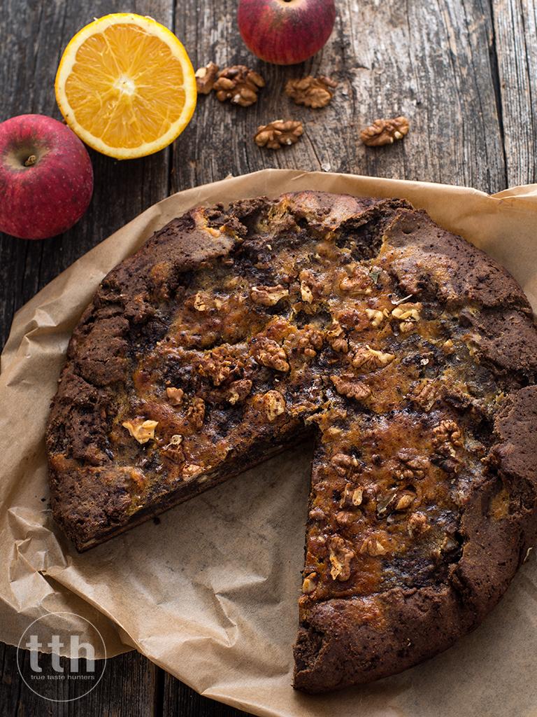 Gallete z masa makowa i jablkiem - przepis weganski, bezglutenowy, bez cukru