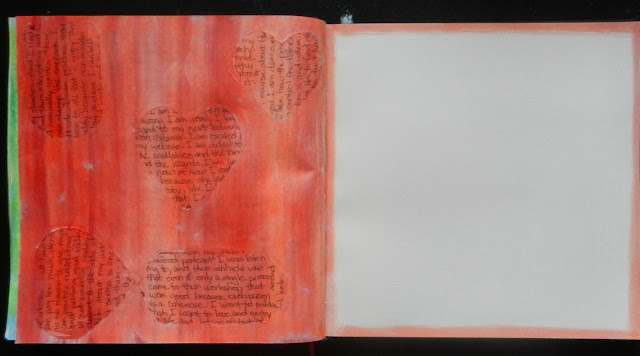 red art journal background