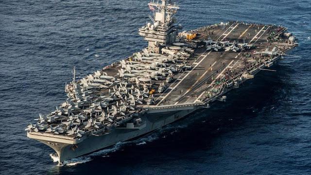 USS Ronald Reagan ya navega en aguas de península coreana