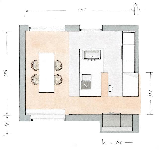 Decotips distribuir la cocina seg n su geometr a for Disenar plano cocina