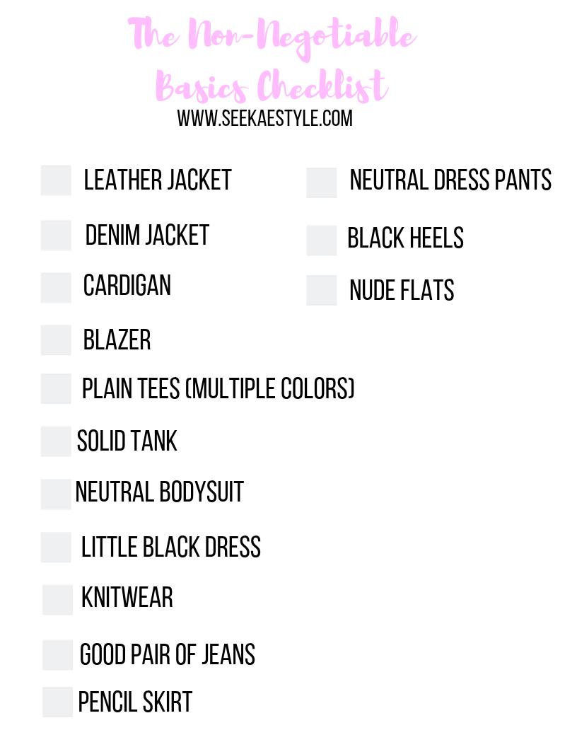 The Wardrobe Basics Checklist