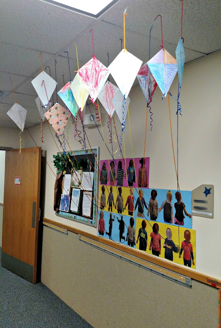 Up, and Away! 3D Student Kite Artwork Display | Apples to Applique