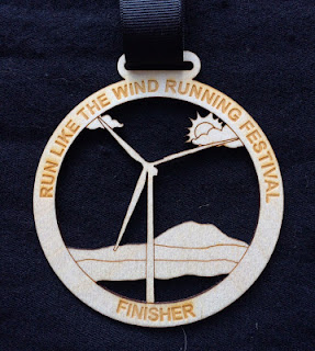 2015 Run Like the Wind Half Marathon medal