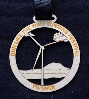 2015 Run Like the Wind Half Marathon medal