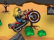 لعبة الدراجة النارية في الصحراء