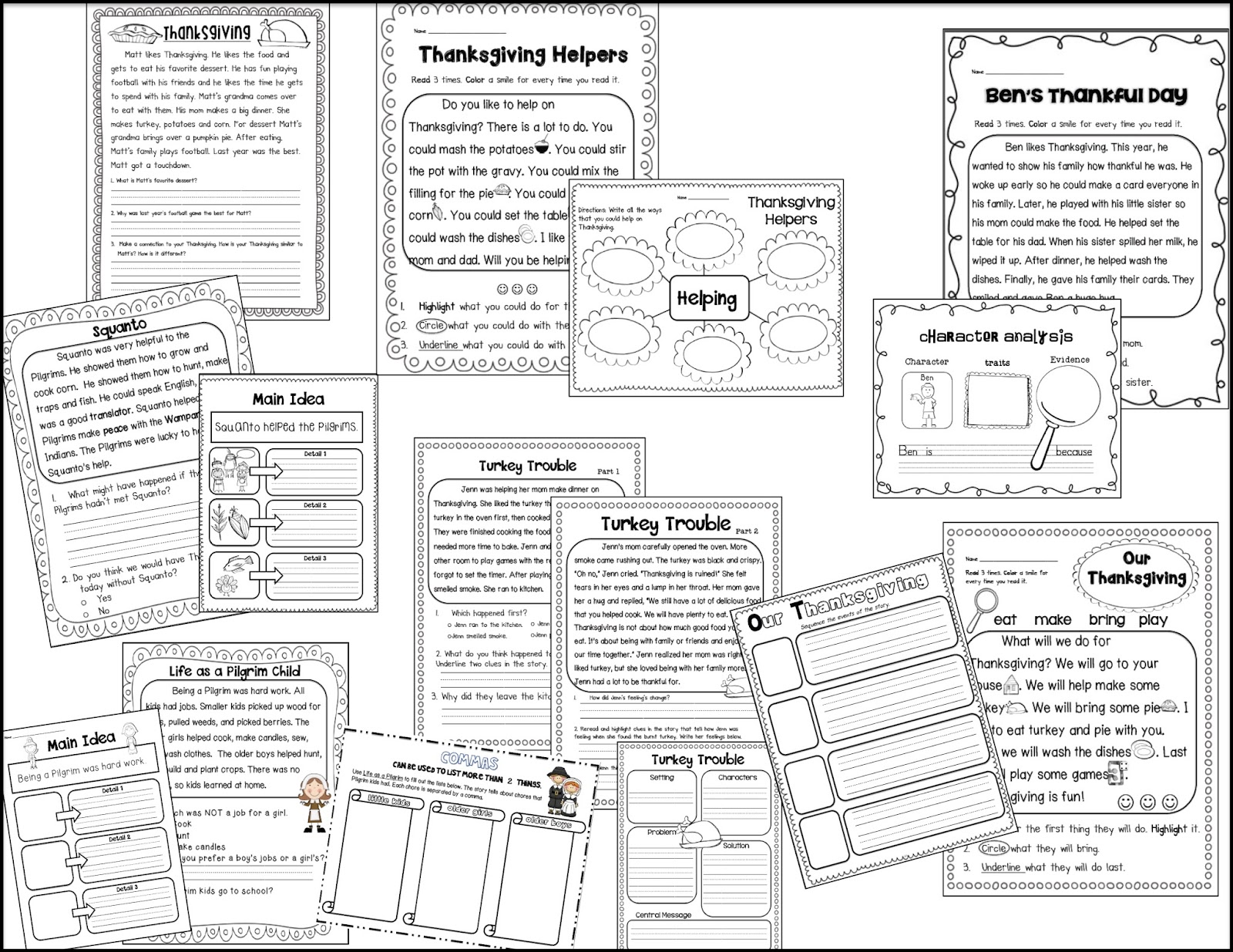 Sarah's First Grade Snippets: Thanksgiving Unit for First