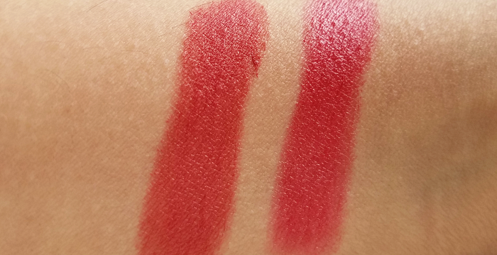 Swatches: SOTHYS Paris - 330 Orange Escapade Velours Rouge mat Lipstick / Rouge Intense in 235 Rouge Roseraie / Les Jardins Sothys Spring/Summer Makeup Collection 2018 - Madame Keke Beauty Lifestyle Blog