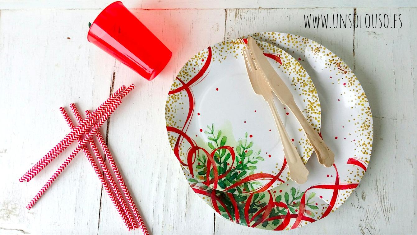 platos de carton navidad