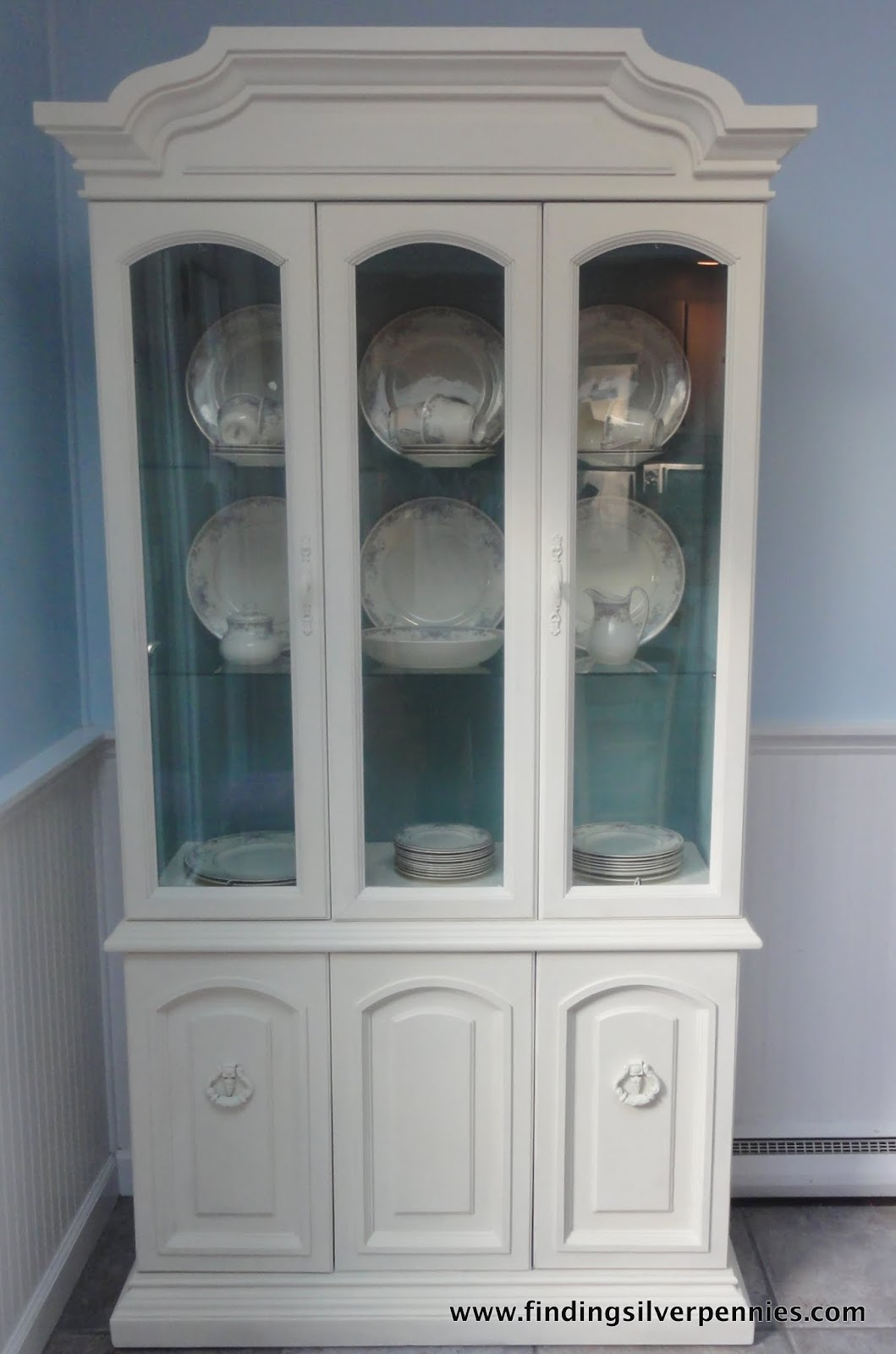 Juliet China Cabinet Before  After  Finding Silver Pennies