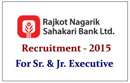 Rajkot Nagarik Sahakari Bank Recruitment 2015