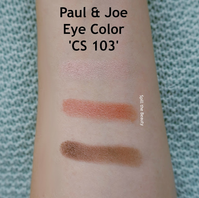Paul & Joe eye color cs 103 review swatches 4 september song