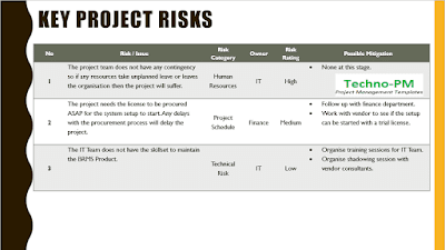 Key Project Risks
