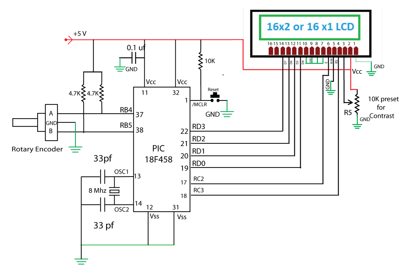 schematic with pic18f458