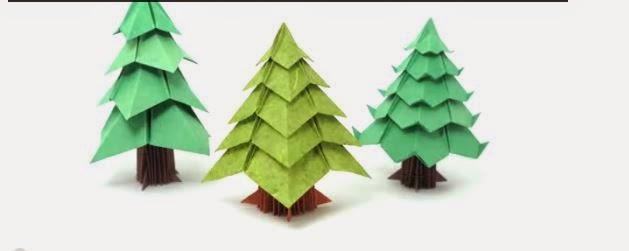 Tutorial brad de craciun din module origami