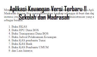 Aplikasi keuangan sekolah dan madrasah