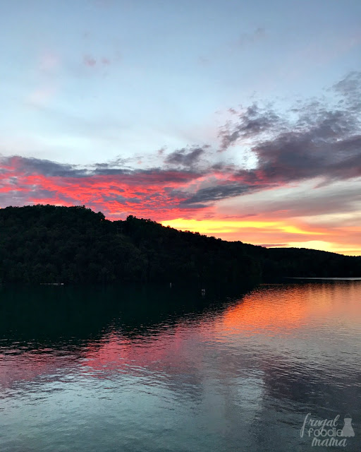 Make plans to walk across Norris Dam at dusk just to take in the gorgeous sunsets over Norris Lake from the other side of the dam.