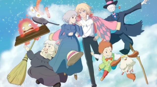 Daftar Rekomendasi Anime Fantasy Romance Terbaik - Howl no Ugoku Shiro (Howl's Moving Castle)