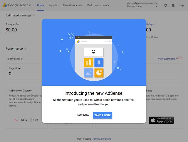 Meet The New AdSense  Ui Change