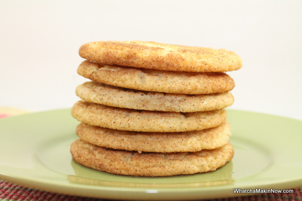 Crispy and Chewy Snickerdoodles from @whatchamakinnow