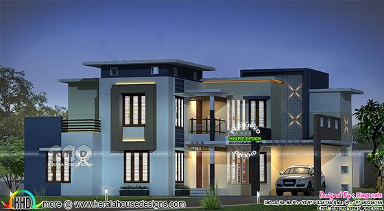 3808 sq-ft 4 bedroom modern contemporary home