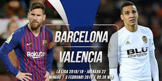 اون لاين مشاهدة مباراة برشلونة وفالنسيا بث مباشر اليوم 2-2-2019 الدوري الاسباني اليوم بدون تقطيع