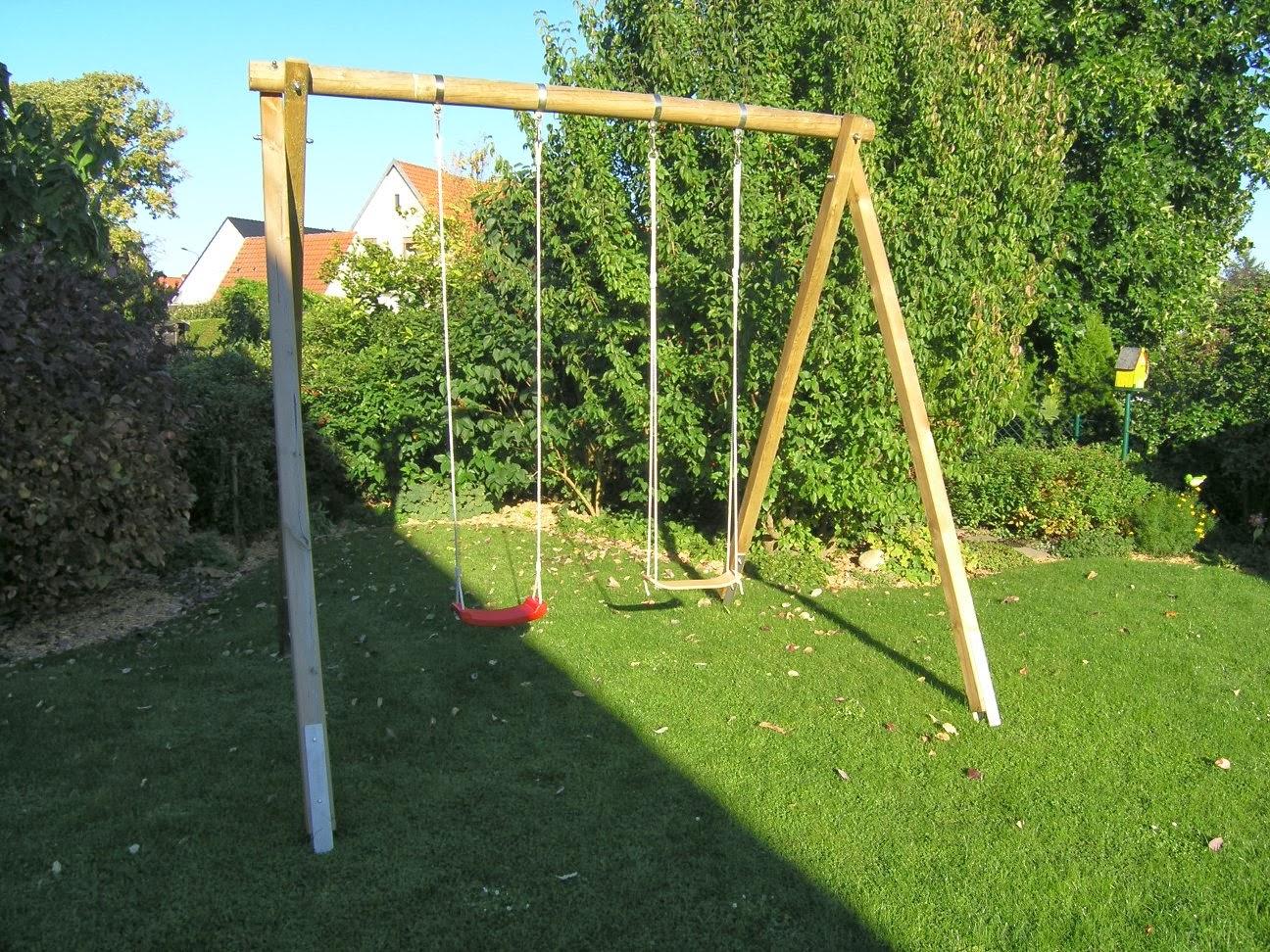 Klettergerüst Bauen : Holzschaukel selber bauen klettergerüst garten bo