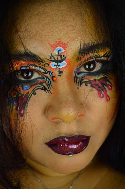 A picture of an aztec makeup inspired by Milk1422 using Tartelette in Bloom Clay palette by tarte and kiko infity eyeshadow 207 e 258
