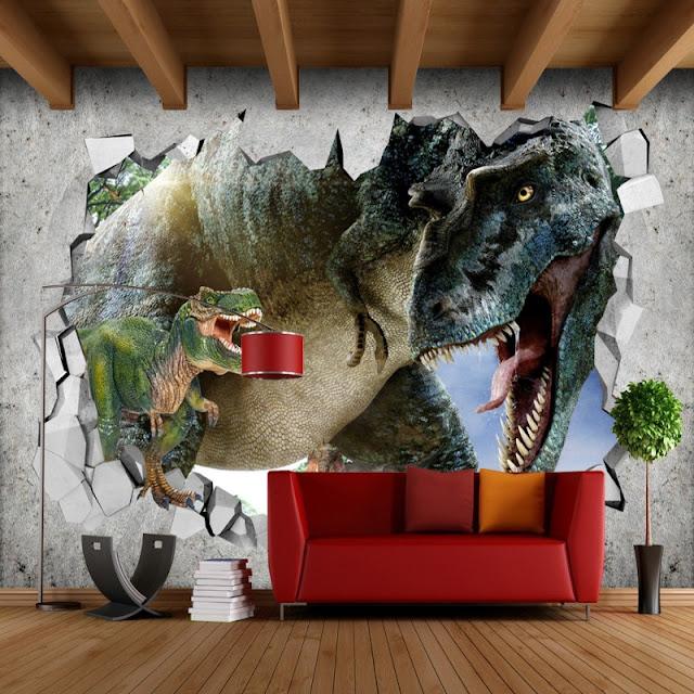 dinosaur Wall Mural T-Rex