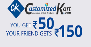 Customized Kart Loot : Get Rs 150 Sign up and Rs 50 per refer {UNLIMITED LOOT }
