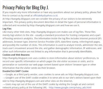 Cara Membuat Privacy Policy di Blog