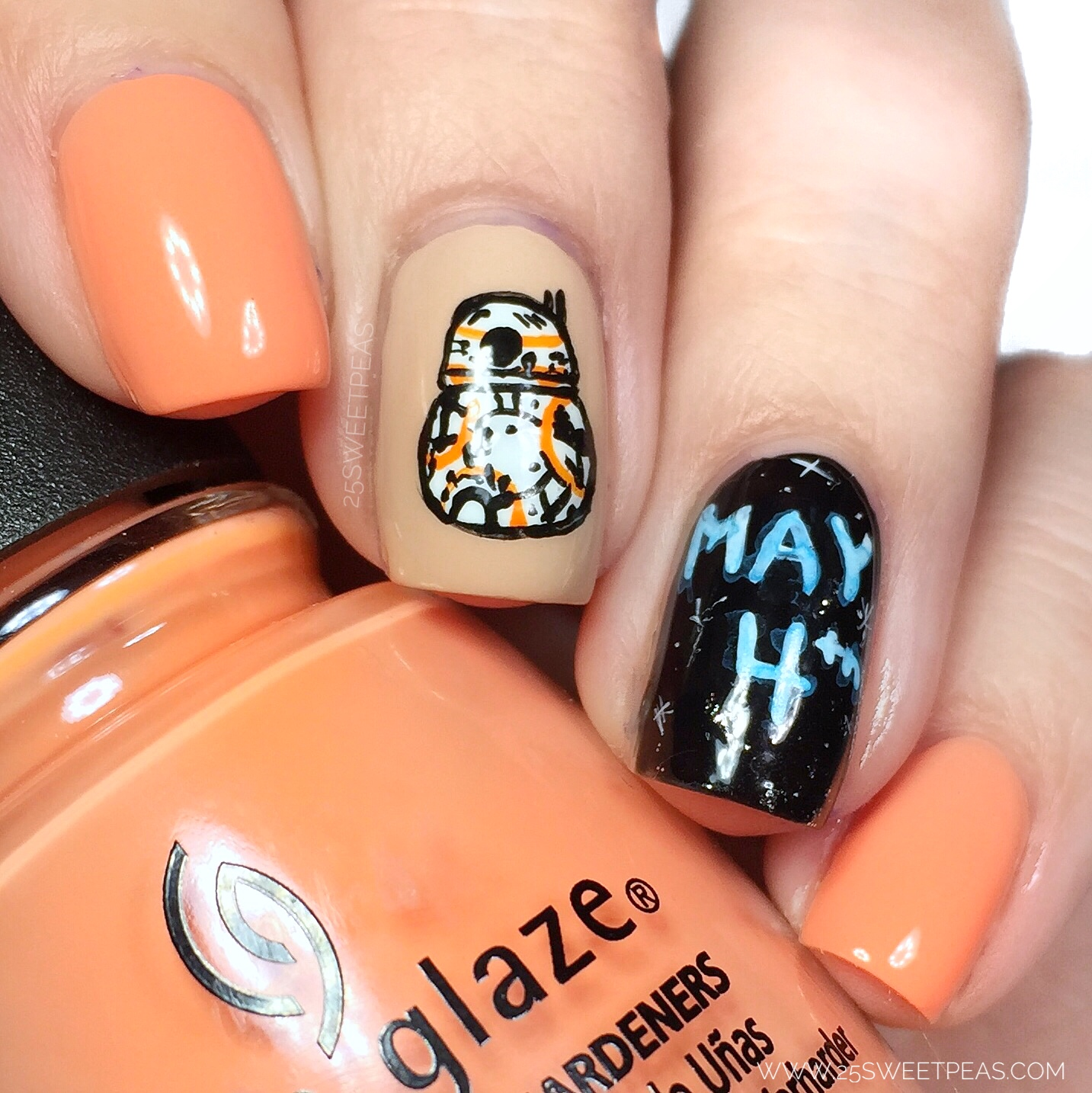 Star Wars Nail Art May The 4th Be With You 25 Sweetpeas